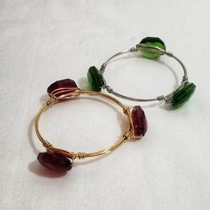 New Red & Green Bracelet Set Size small